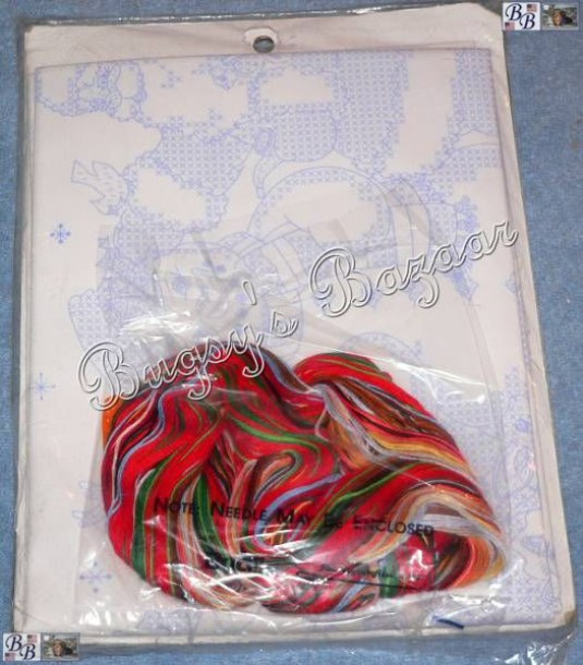 Stamped Christmas Tree Skirts To Embroider