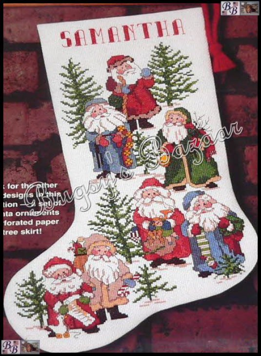 Dimensions old fashioned santas stocking christmas counted for Fashion christmas stockings